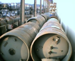 2,500 Pound Cylinders Containing Ethylene Dibromide