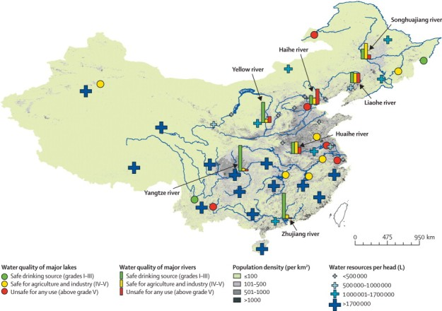 Water Quality in Major Rivers in China (The Lancet. (2010). 375:9720, 1110-19.)