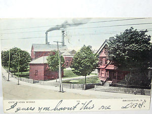 1907 Postcard of Binghamton Waterworks