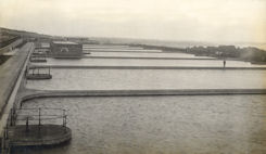 Slow Sand Filters At Portsmouth, UK 1927