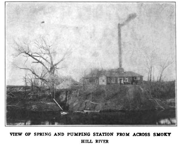 View of Spring and Pumping Station From Across the Smoky Hill River
