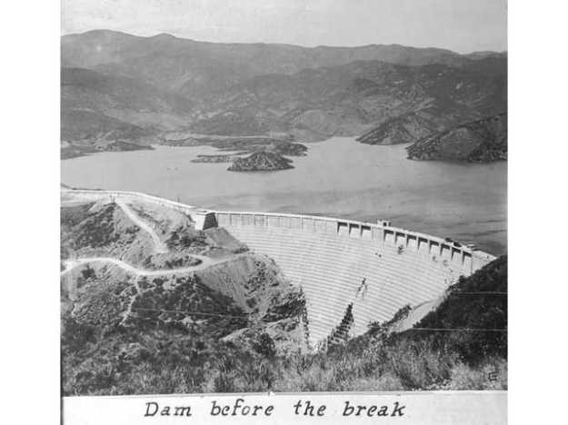 St. Francis Dam before the failure