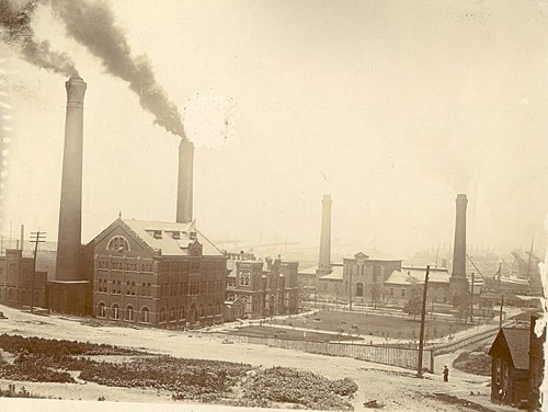Cleveland Waterworks in 1903 before the installation of filtration