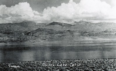 Owens Lake before becoming a dust hazard