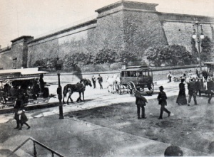 Terminal reservoir for the Croton Aqueduct about 1875—located on 42nd Street on the site of the current New York Public Library.
