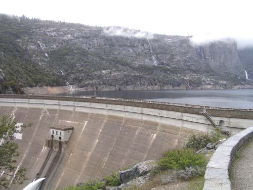 O'Shaughnessy Dam which forms the reservoir for the Hetch Hetchy water supply