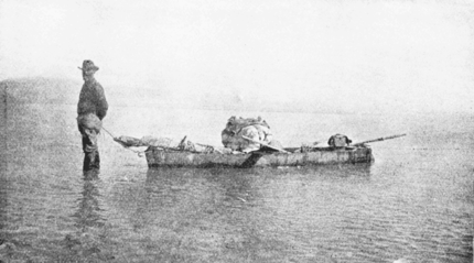 1129 Exploring Salton Sea for the Source of the Waters. January 13, 1905