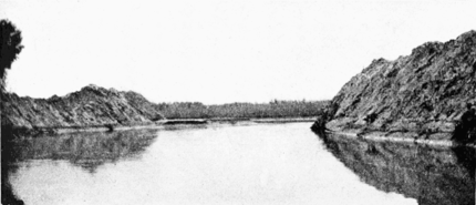 Intake No. 3, looking out toward the river. February 15, 1905