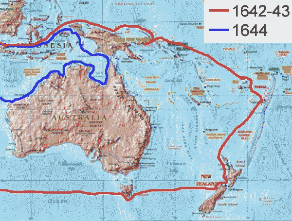 Tasman Exploration Routes