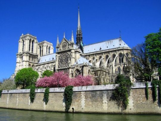Notre Dame de Paris on the Seine River