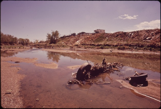 Polluted South Platte River